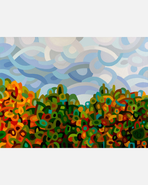 original abstract landscape painting of fall in the ottawa valley