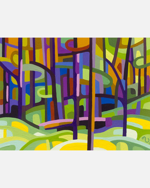 original abstract landscape study spring forest glade